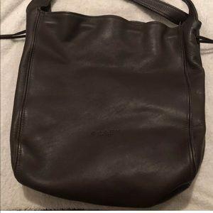 Vintage Coach Brown Leather Bag/Drawstring